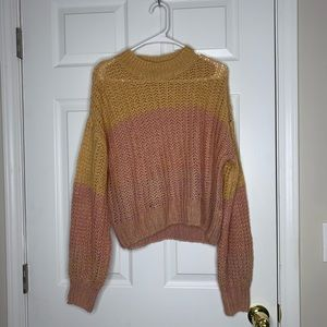 Wild Fable color block open knit sweater